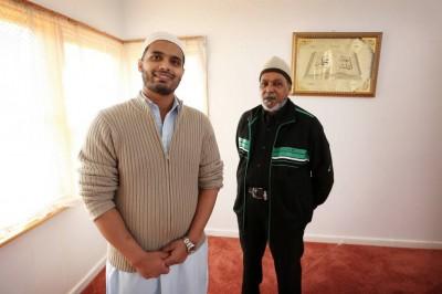 Islamic Society of Albury-Wodonga president Yakub Mohammed and trustee Gani Abdul at the prayer centre in Lavington. Picture: MATTHEW SMITHWICK