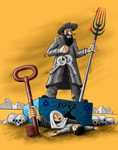 Anti-semitic-cartoon-Sweden-Badil