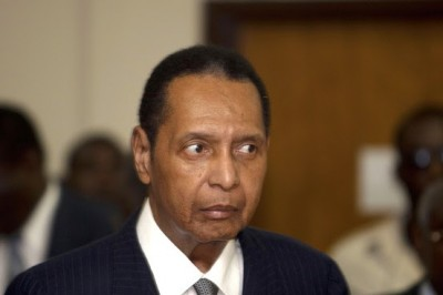 """Former Haitian dictator Jean-Claude Duvalier, known as """"Baby Doc,"""" attends a court hearing in 2013. Associated Press"""