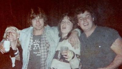 Mr Carson (right) as a free-spirited youth before he changed his name from Thomas to Mohammad. Source: News Corp Australia