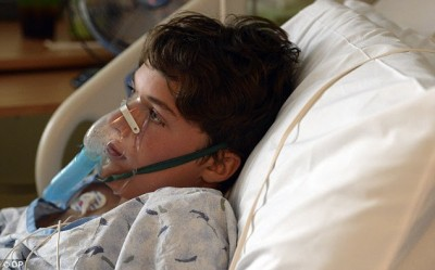 13-year-old Will Cornejo is recovering at Rocky Mountain Hospital for Children at Presbyterian/St. Luke's Medical Center in Denver earlier this month from what doctors suspect is enterovirus 68