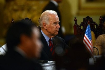 US Vice-President Joe Biden, is seen during a bilateral meeting at Culture Palace in Guatemala City on June 20, 2014. AFP PHOTO Johan ORDONEZ