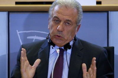 Dimitris Avramopoulos was questioned by the European Parliament's Committee on Civil Liberties, Justice and Home Affairs Tuesday.