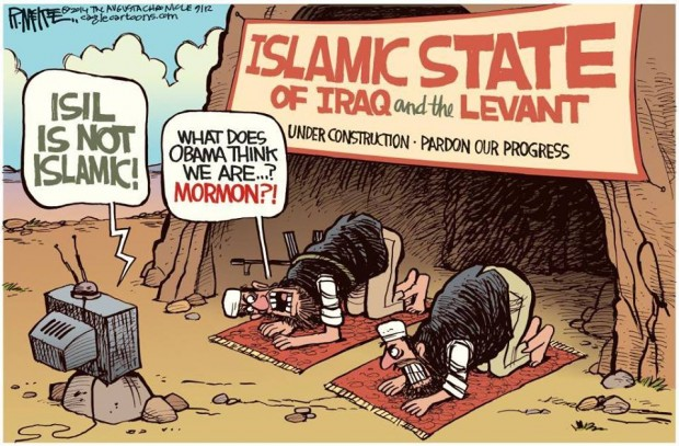 Nothing to do with Islam cartoon
