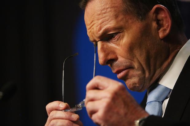 Prime Minister Tony Abbott Addresses Addresses The Media In Relation To Sydney's Hostage Incident