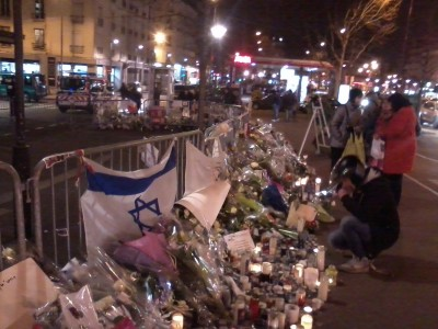 Ad hoc memorial Hyper Cacher Paris France