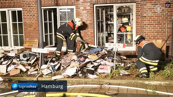 Hamburger Morgenpost newspaper in Hamburg attacked by Muslims
