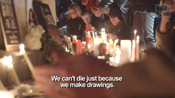 Parisians mourn the victims of Muslim barbarism