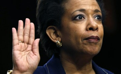 Loretta Lynch testifies on Capitol Hill in Washington