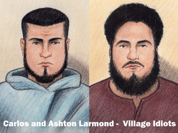 Carlos and Ashton Larmond Village Idiots