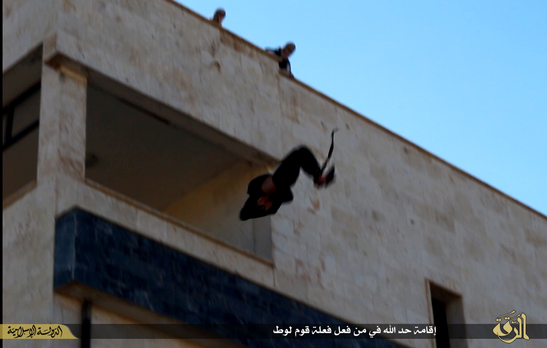 ISIS throws homosexual off roof