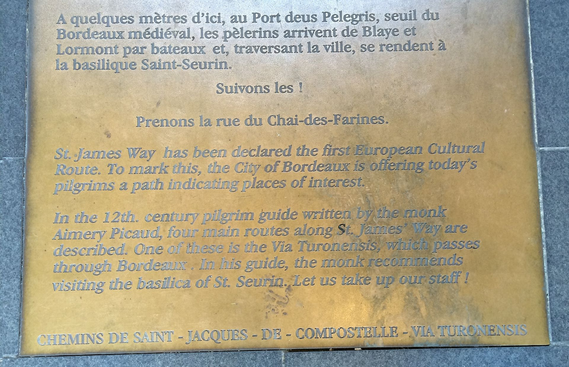 Camino_marker_in_bordeaux
