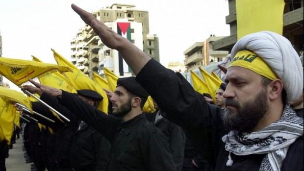 Hezbollah-Nazi-Salute