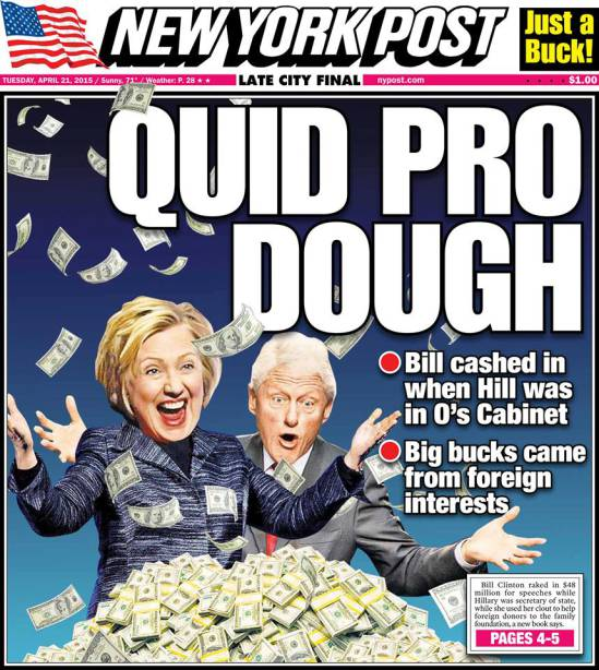 Hillary Clinto Quid Pro Dough