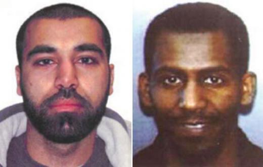 Maiwand Yar, left, and Ferid Ahmed Imam, right - muslim terrorists
