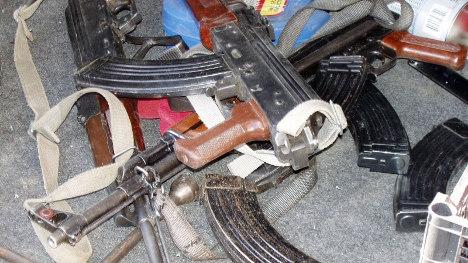 Muslim terrorist weapons cache France