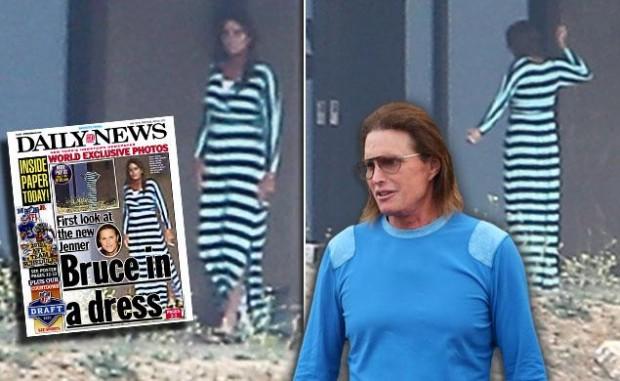 Freakish Bruce Jenner Seen Wearing Dress in Public ... Daily News Bruce Jenner In A Dress Photos