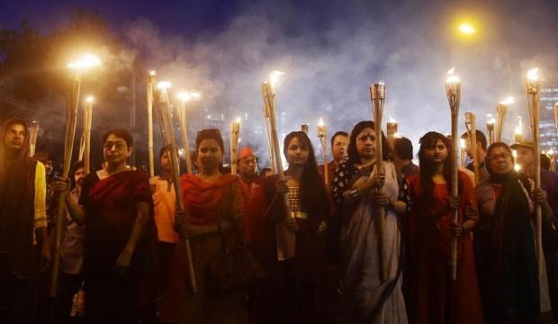 Bangladesh Hey Muslims don't kill us rally
