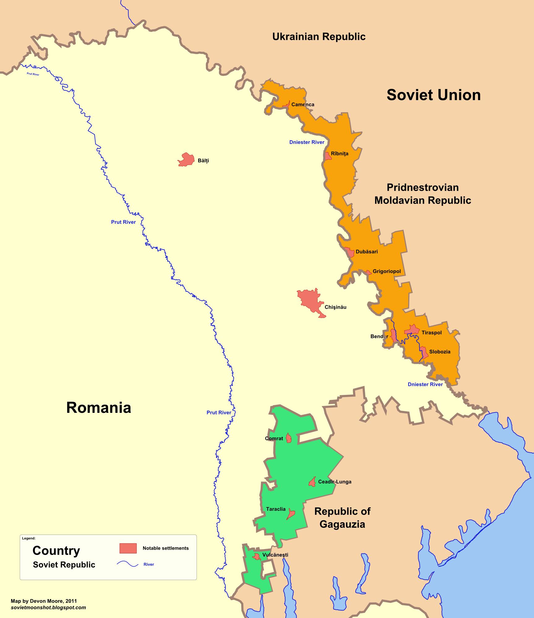 Gagauzia-Moldova-Pridnestrovie