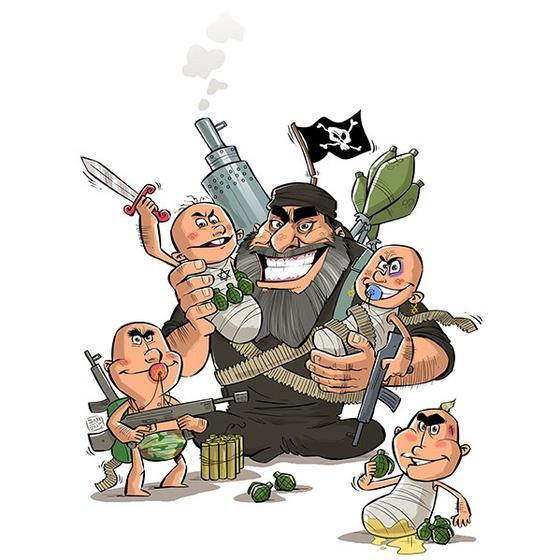 Islamic state Iran Cartoon Star of David