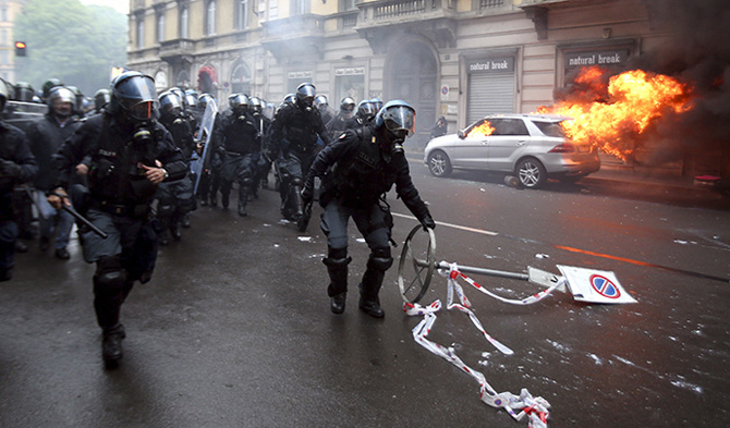 Milan-protests