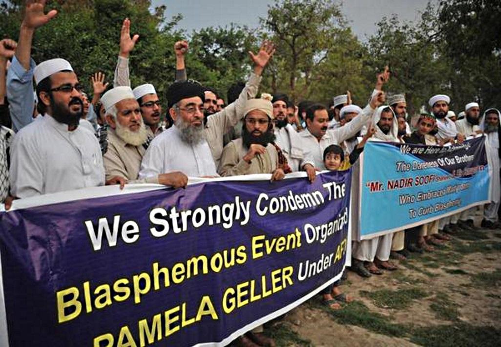 Pakistan Muslims celebrate Garland attack martyrs