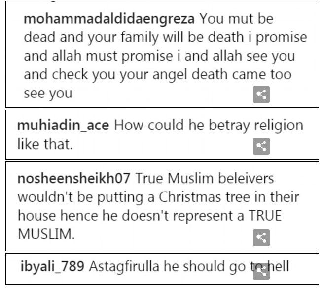 muslim puts up christmas tree hilarious death threats ensue
